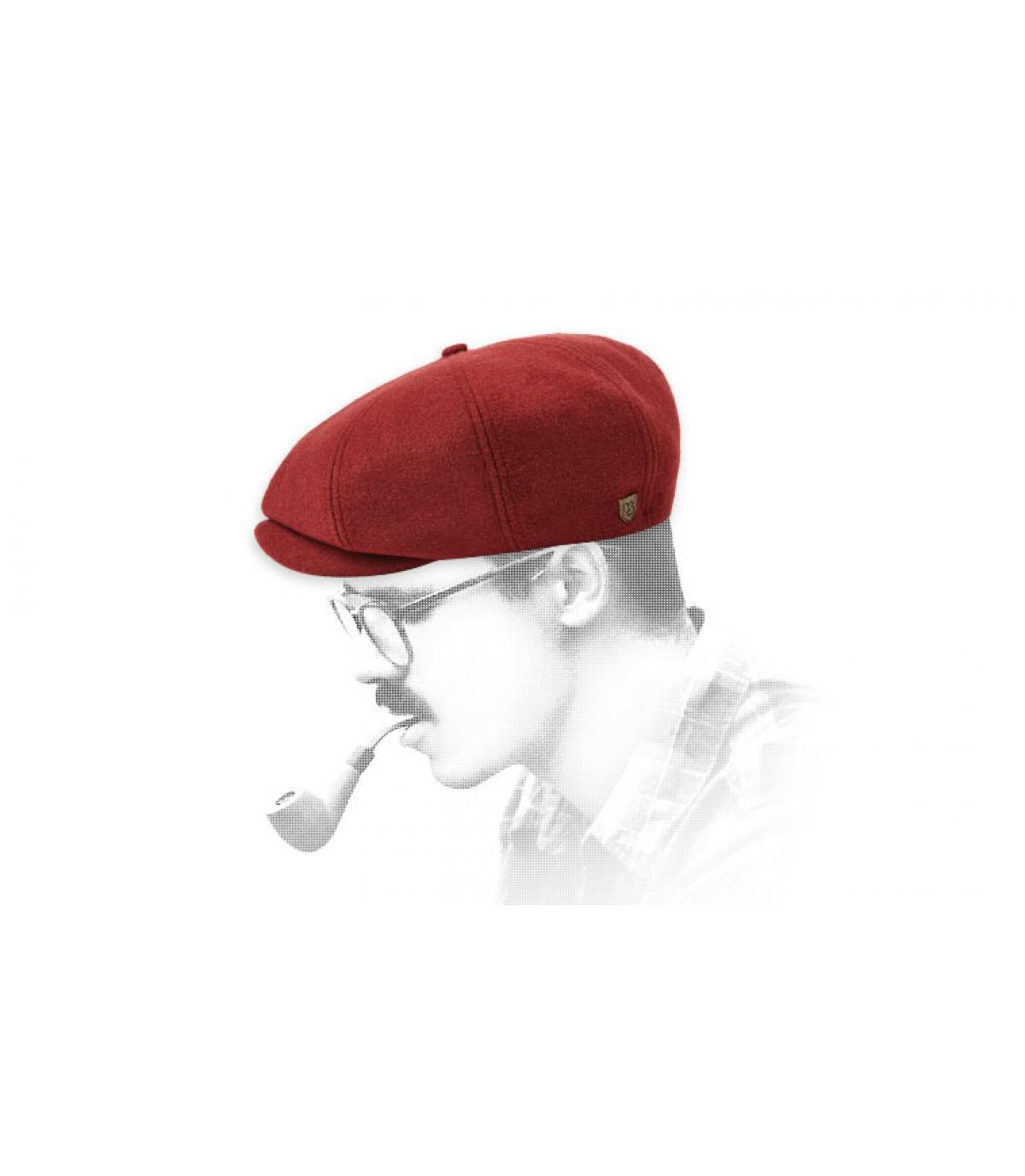gorra repartidor granate
