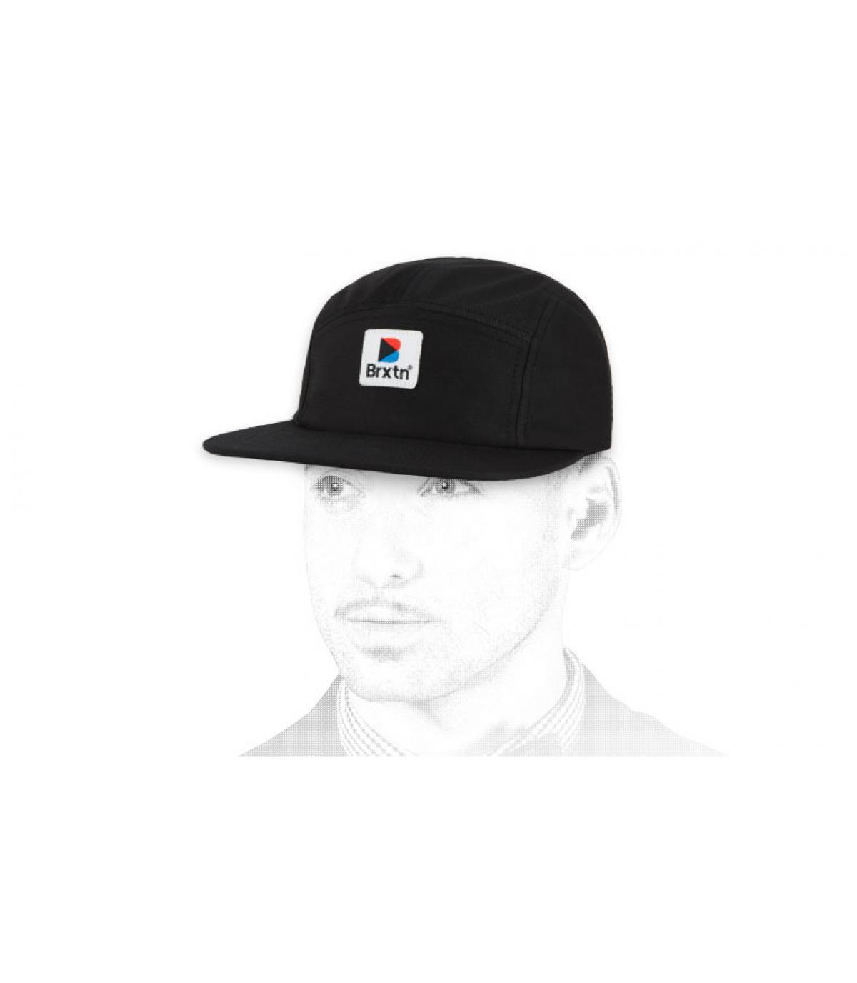 gorra 5 panel negro Brixton