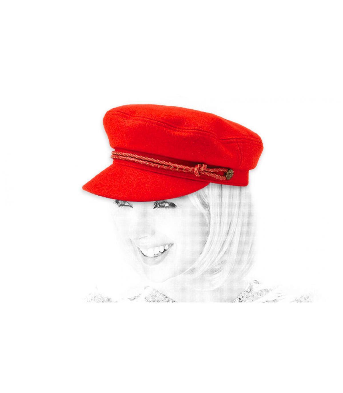 gorra marinera mujer rojo