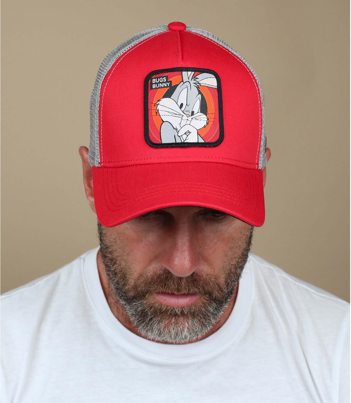 trucker Bugs Bunny rojo