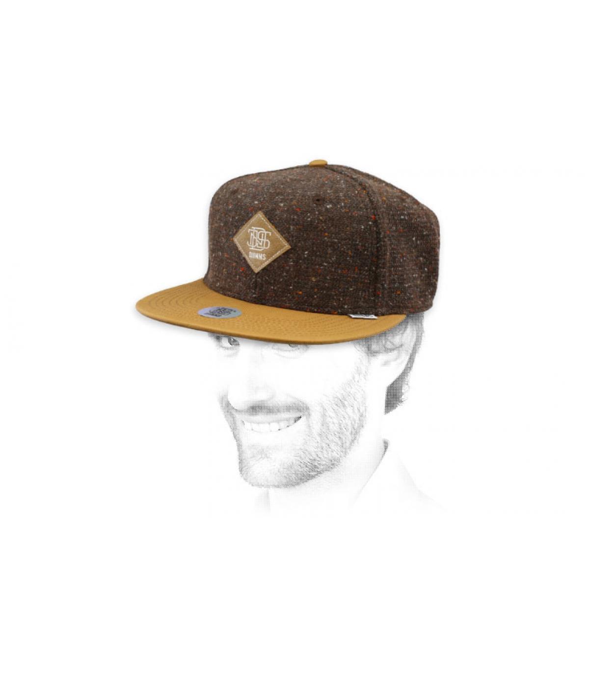 snapback fieltro jaspeado marrón
