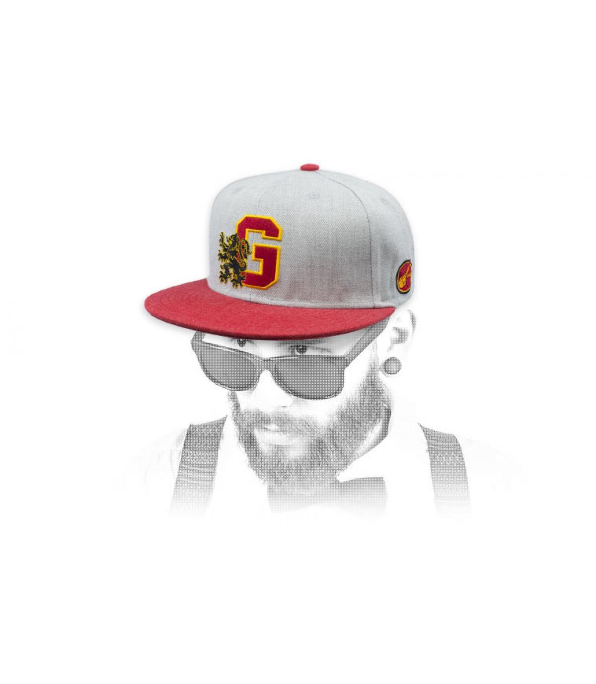 snapback Griffindor blanco rojo
