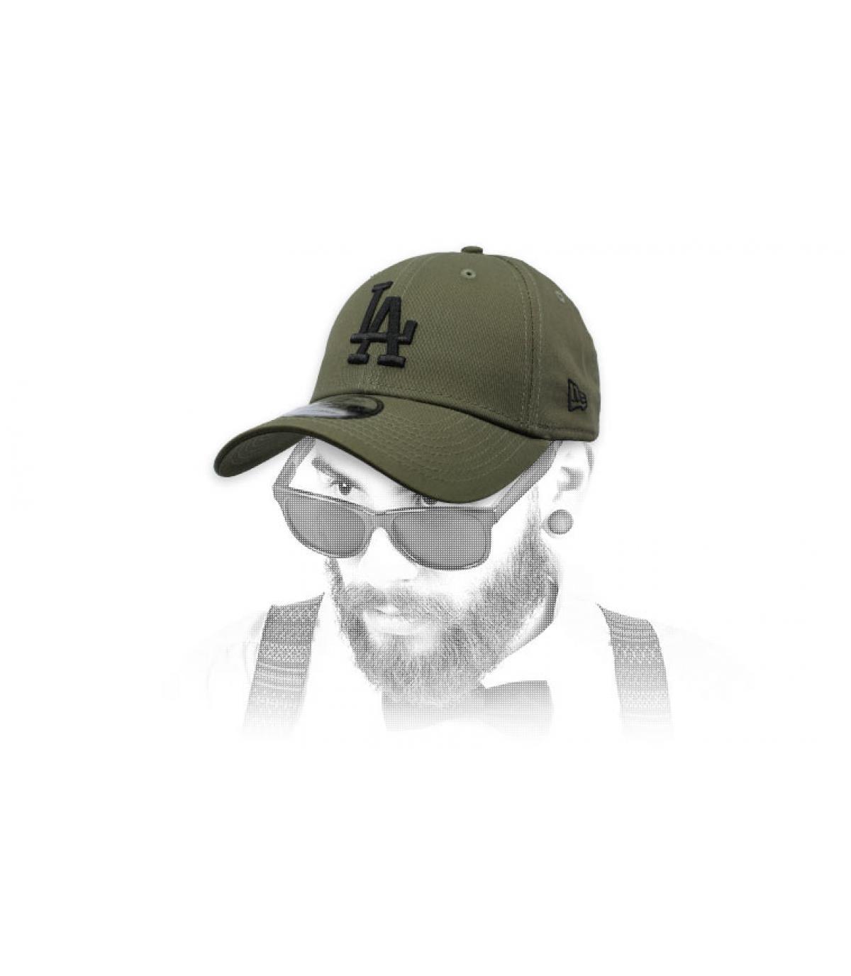 gorra LA verde gris