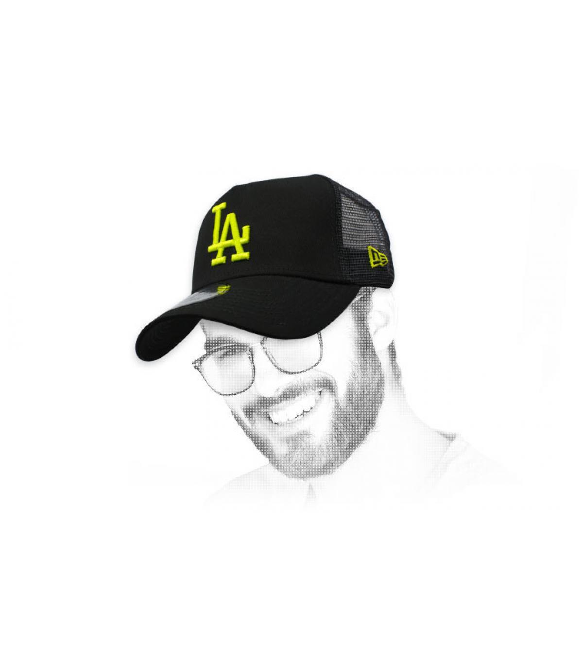 trucker LA negro amarillo