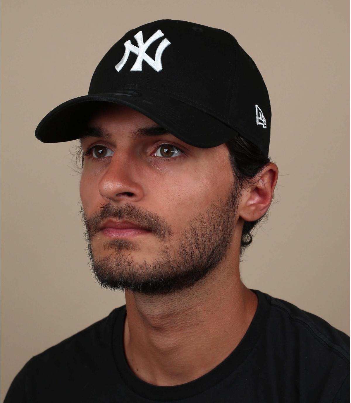 gorra NY negro elástica