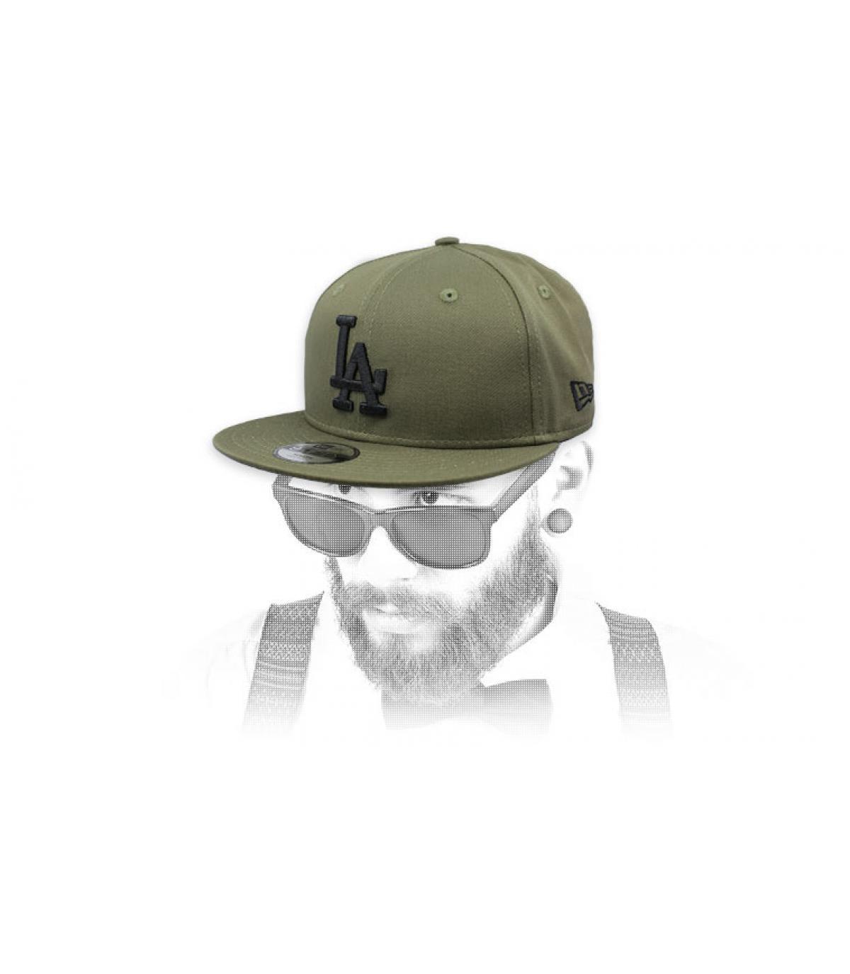 968b32e926088 snapback LA verde negro