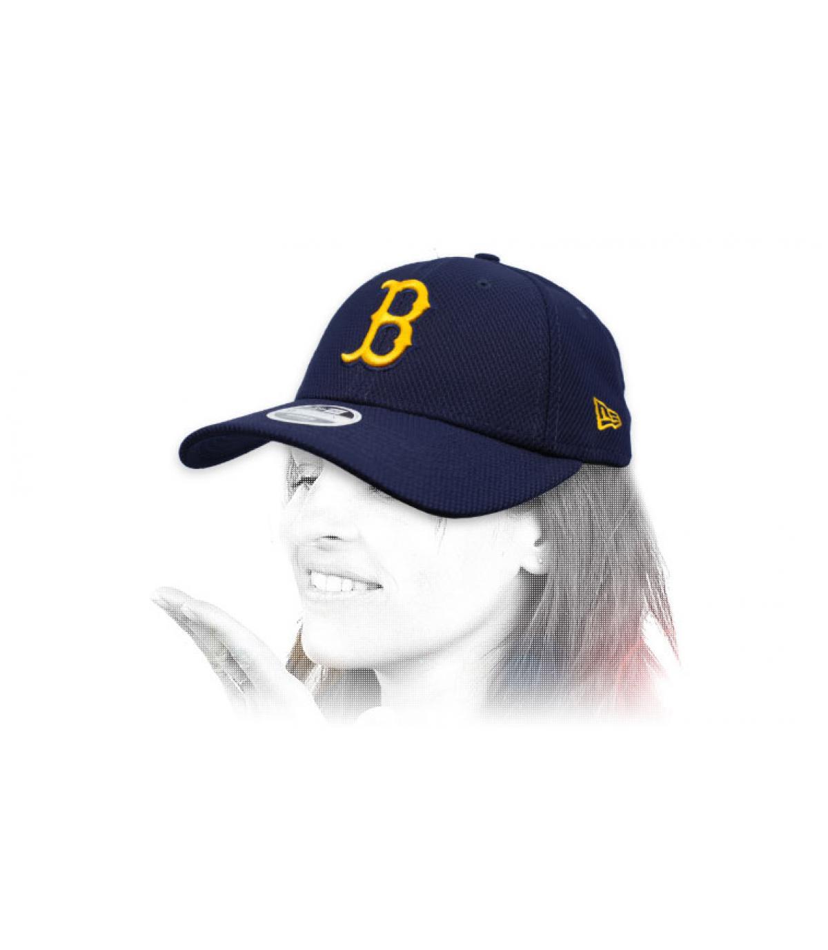 gorra B mujer azul amarillo