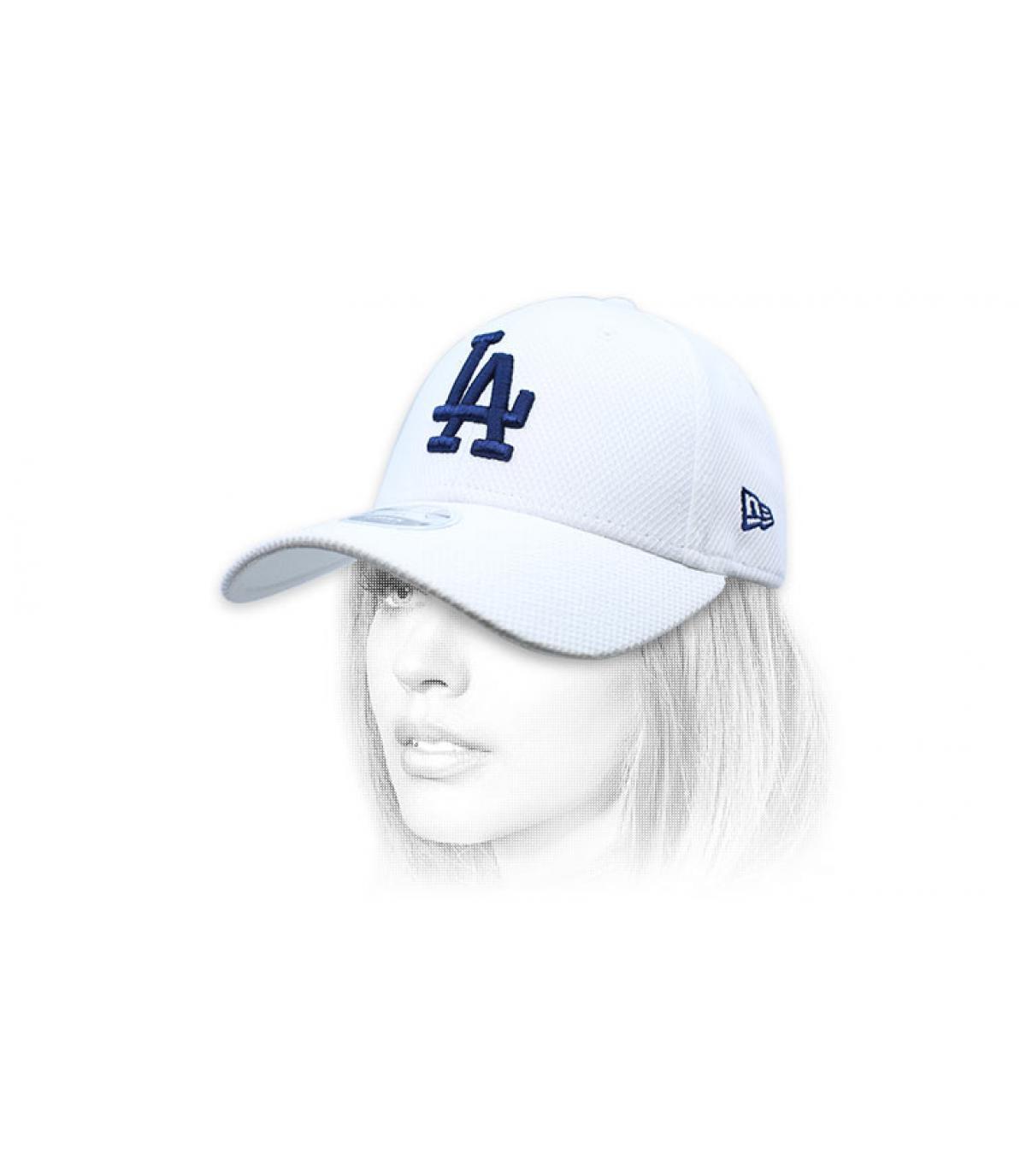 gorra LA mujer blanco azul