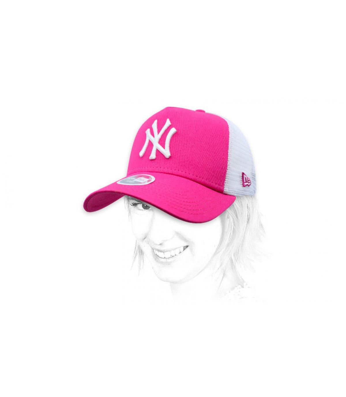 trucker NY mujer rosa