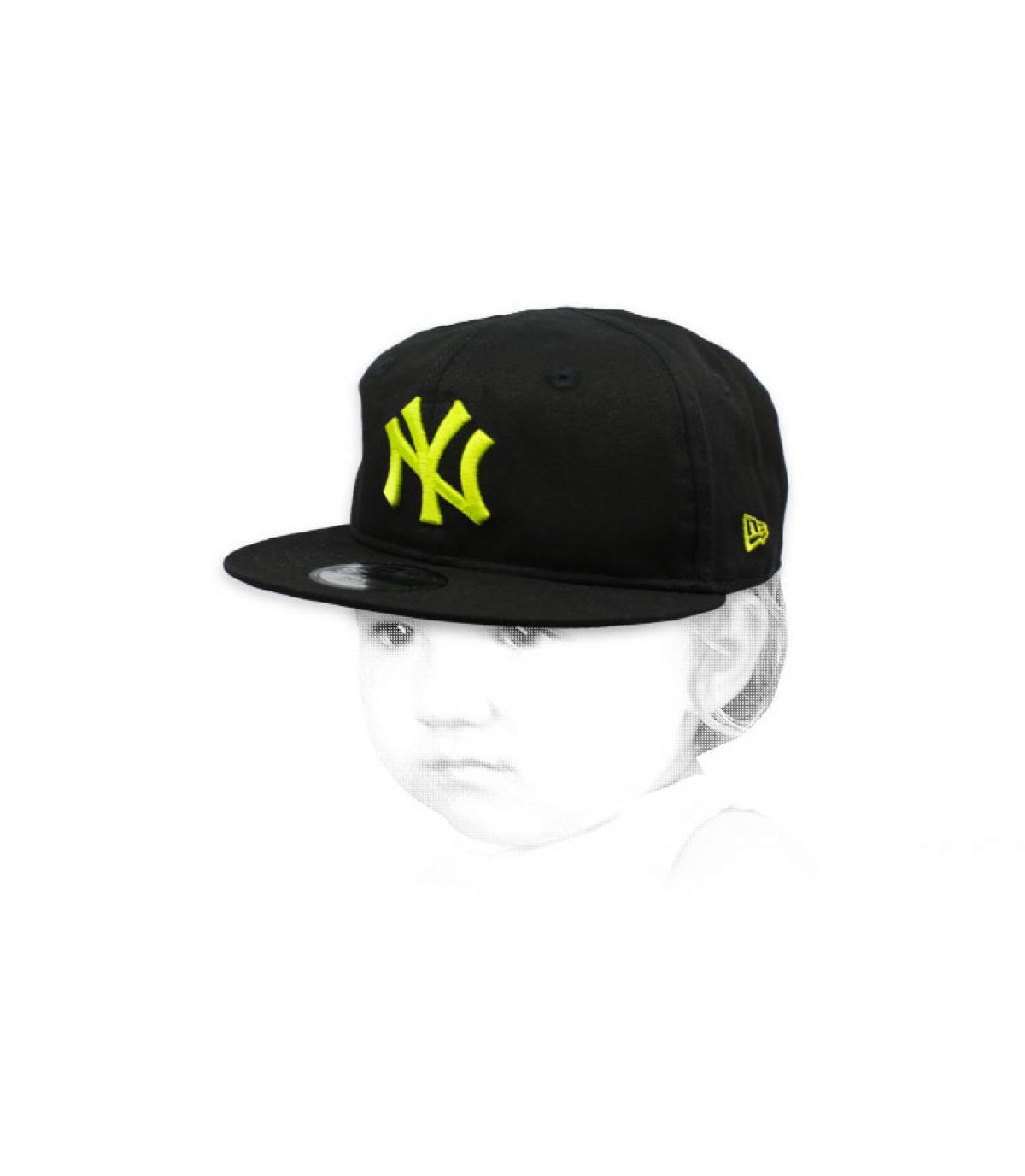 gorra bebe NY negro amarillo