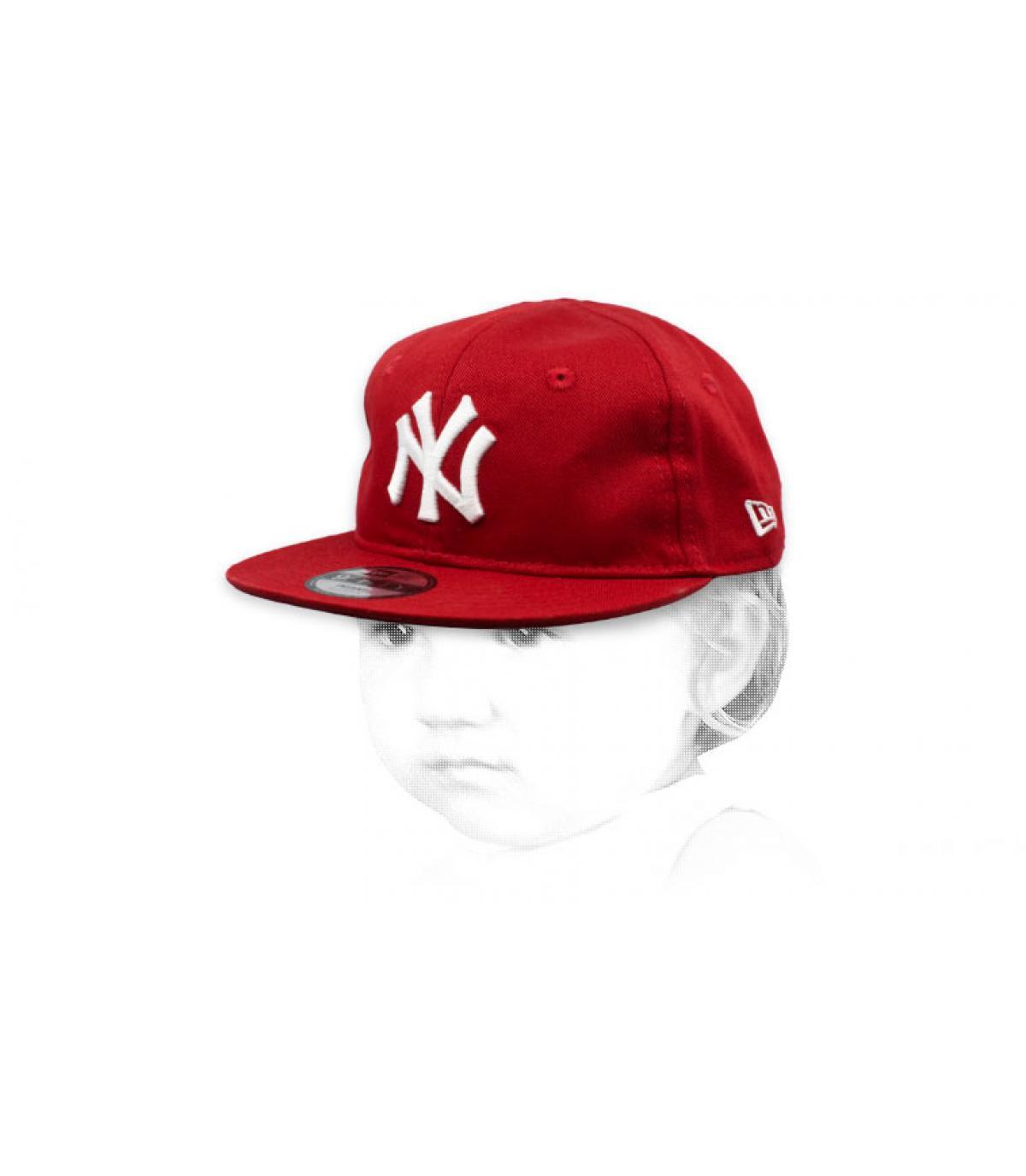 gorra bebe NY rojo blanco