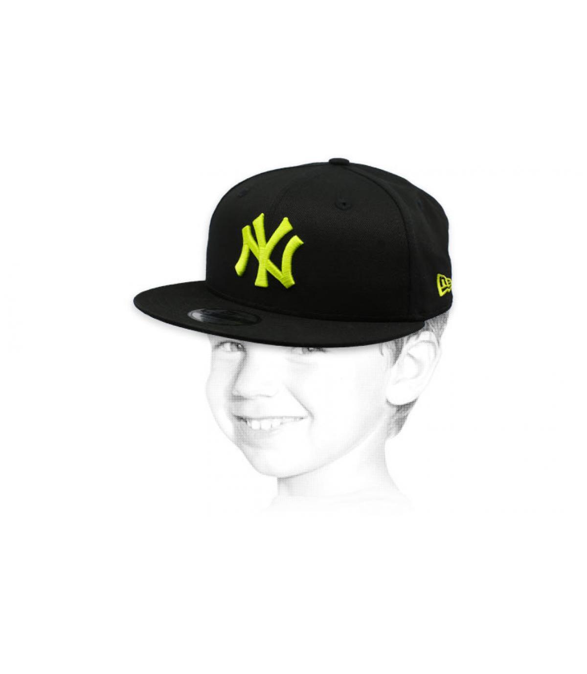 gorra infantil NY negro amarillo