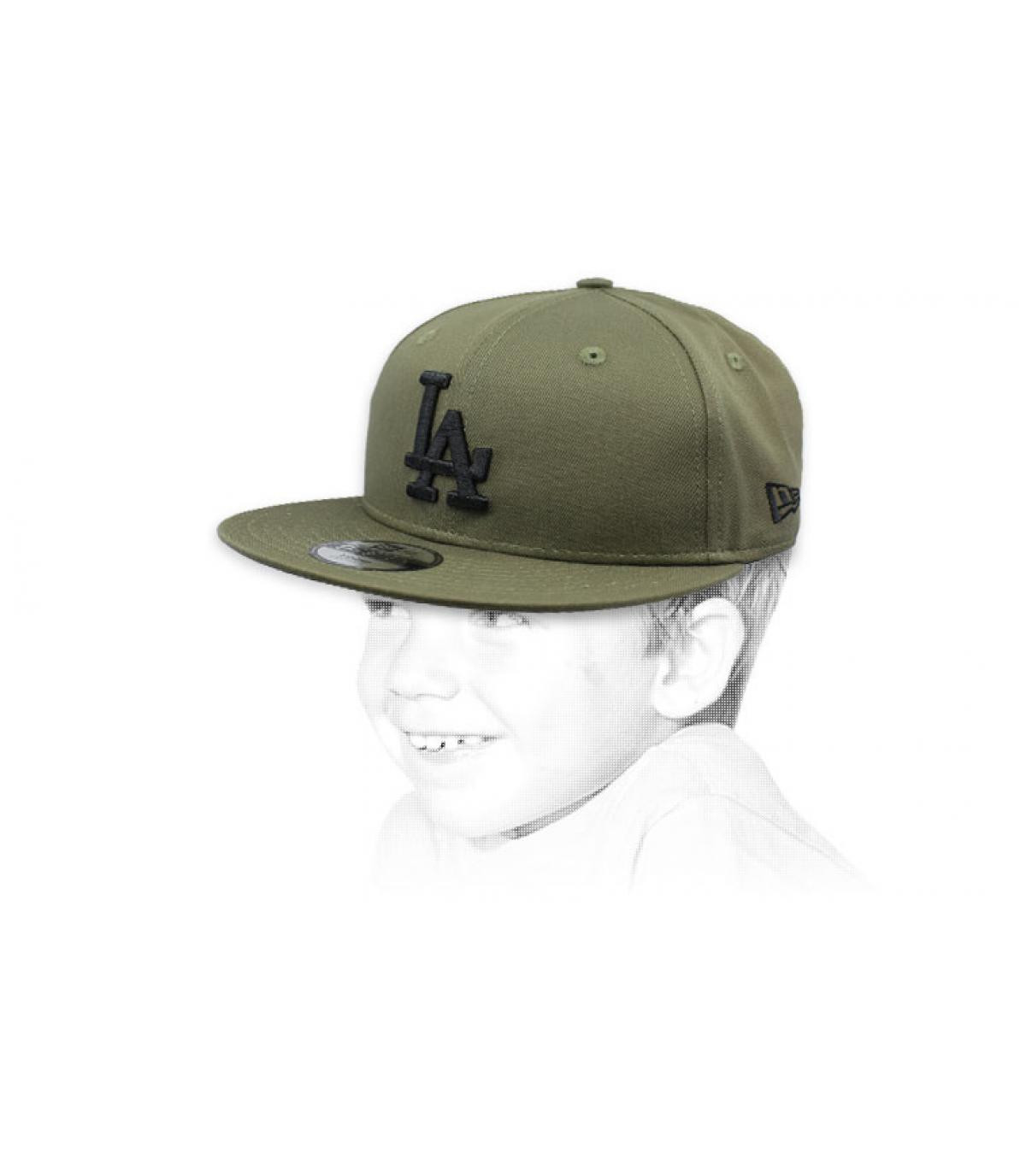 gorra niño LA verde negro