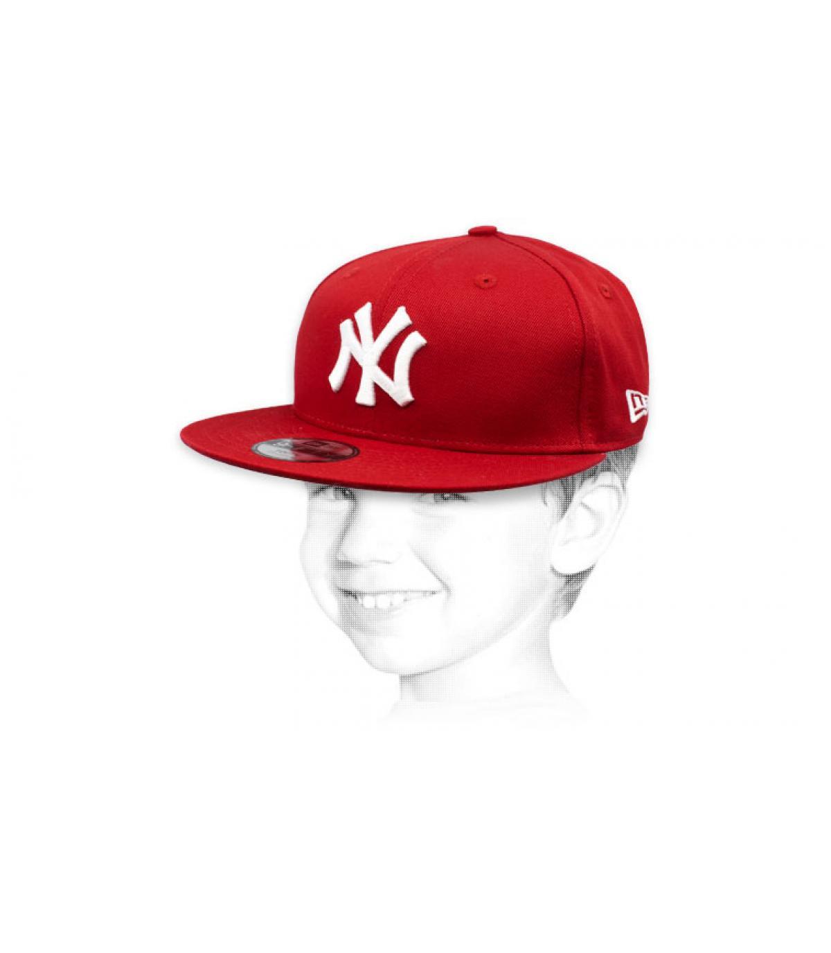 gorra infantil NY rojo blanco