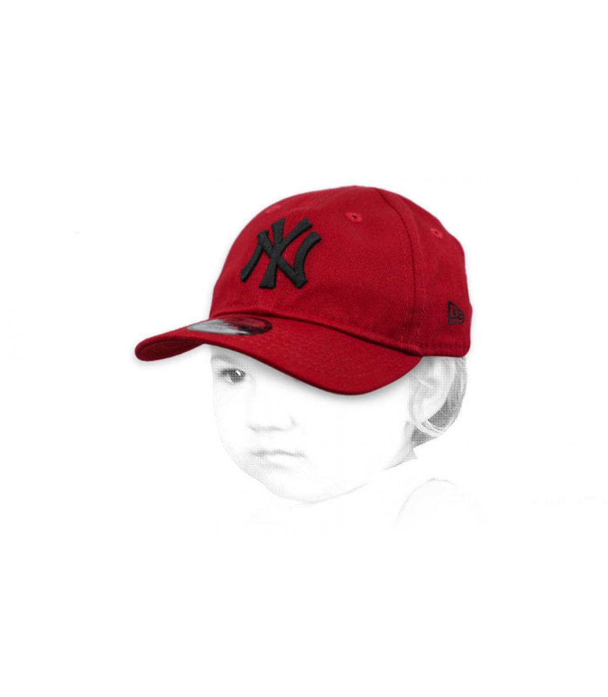 gorra bebe NY rojo