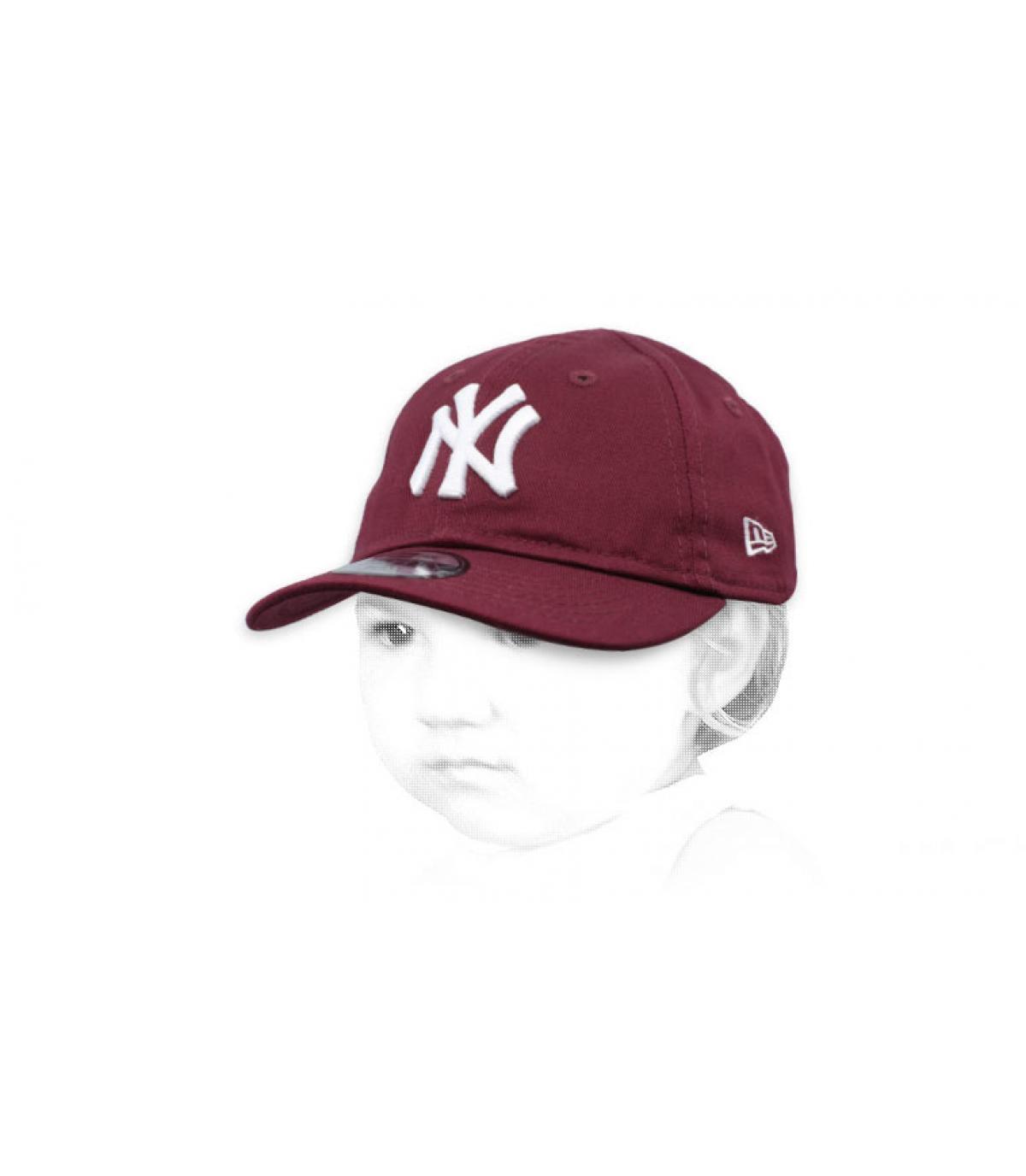 gorra NY bebe morado
