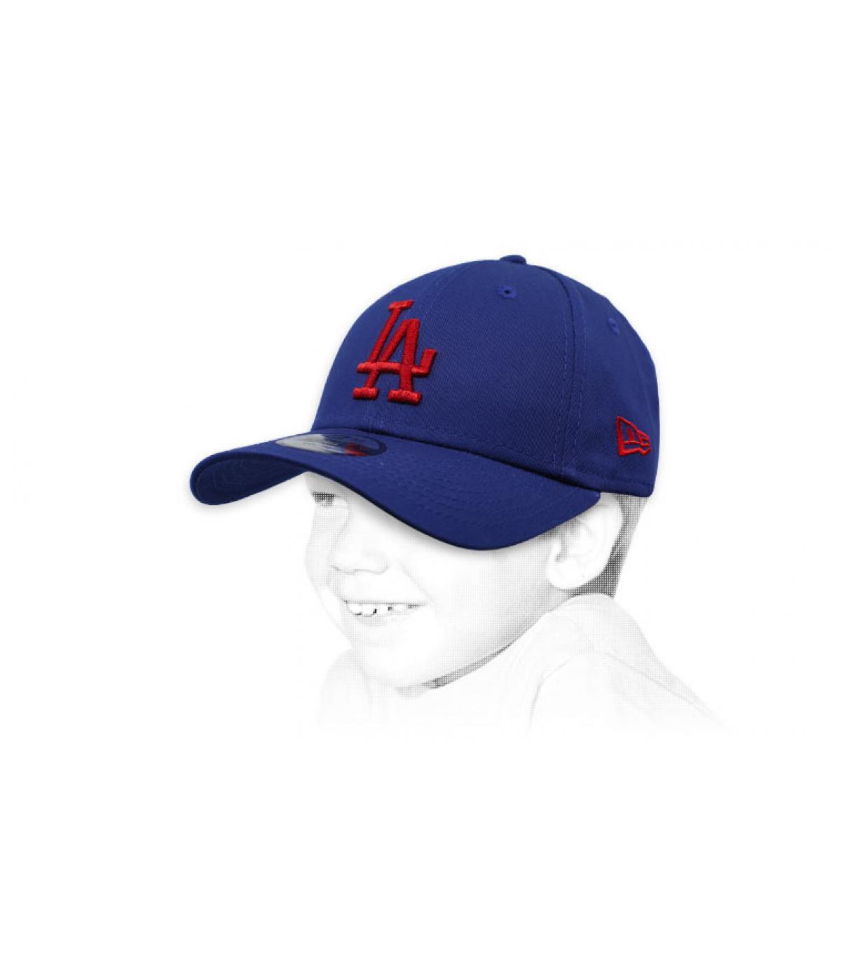 gorra infantil LA azul rojo
