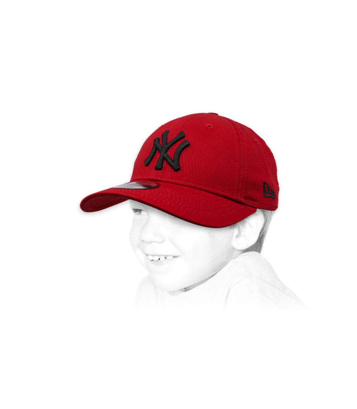 gorra infantil NY granate
