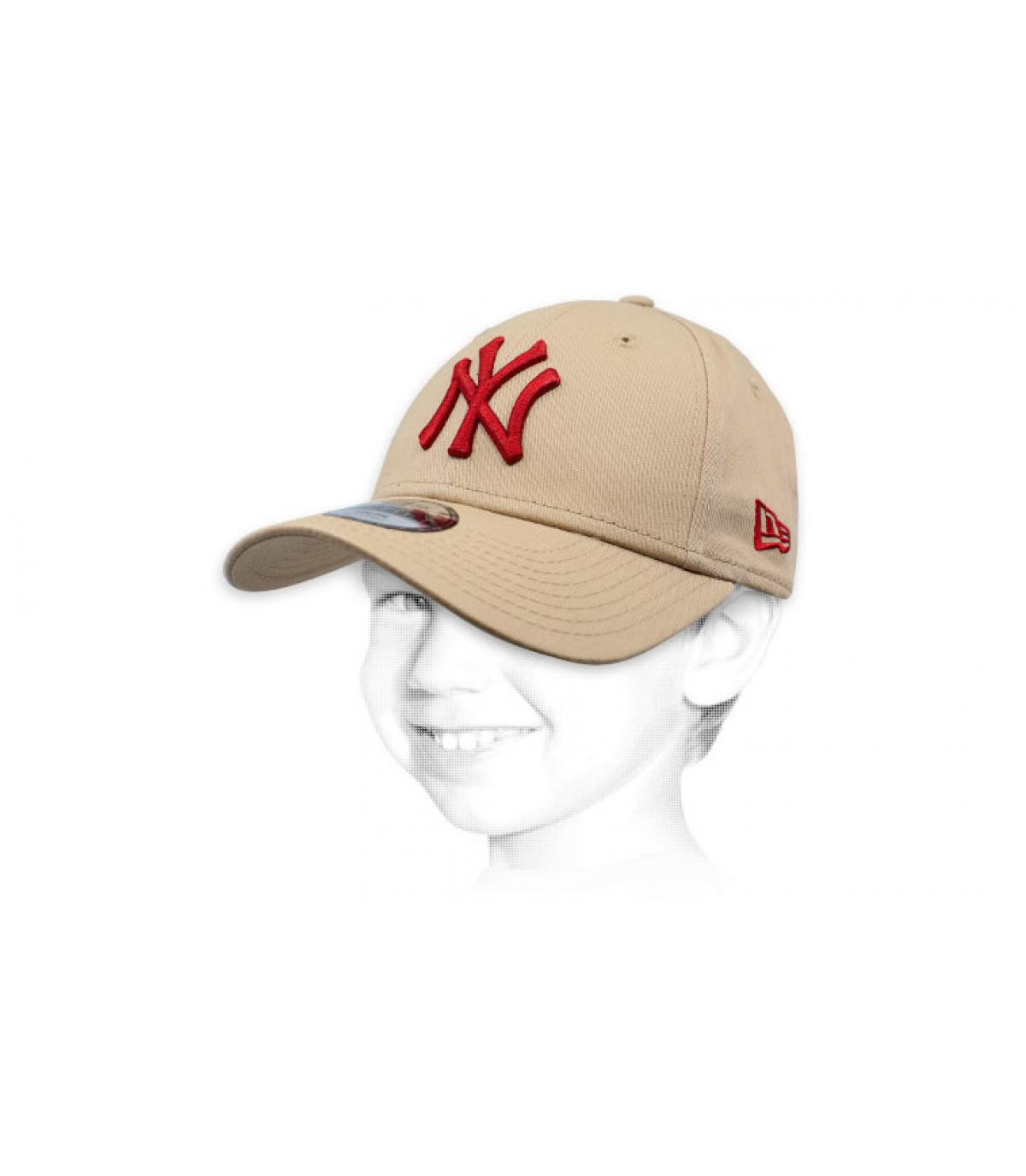 gorra niño NY beis