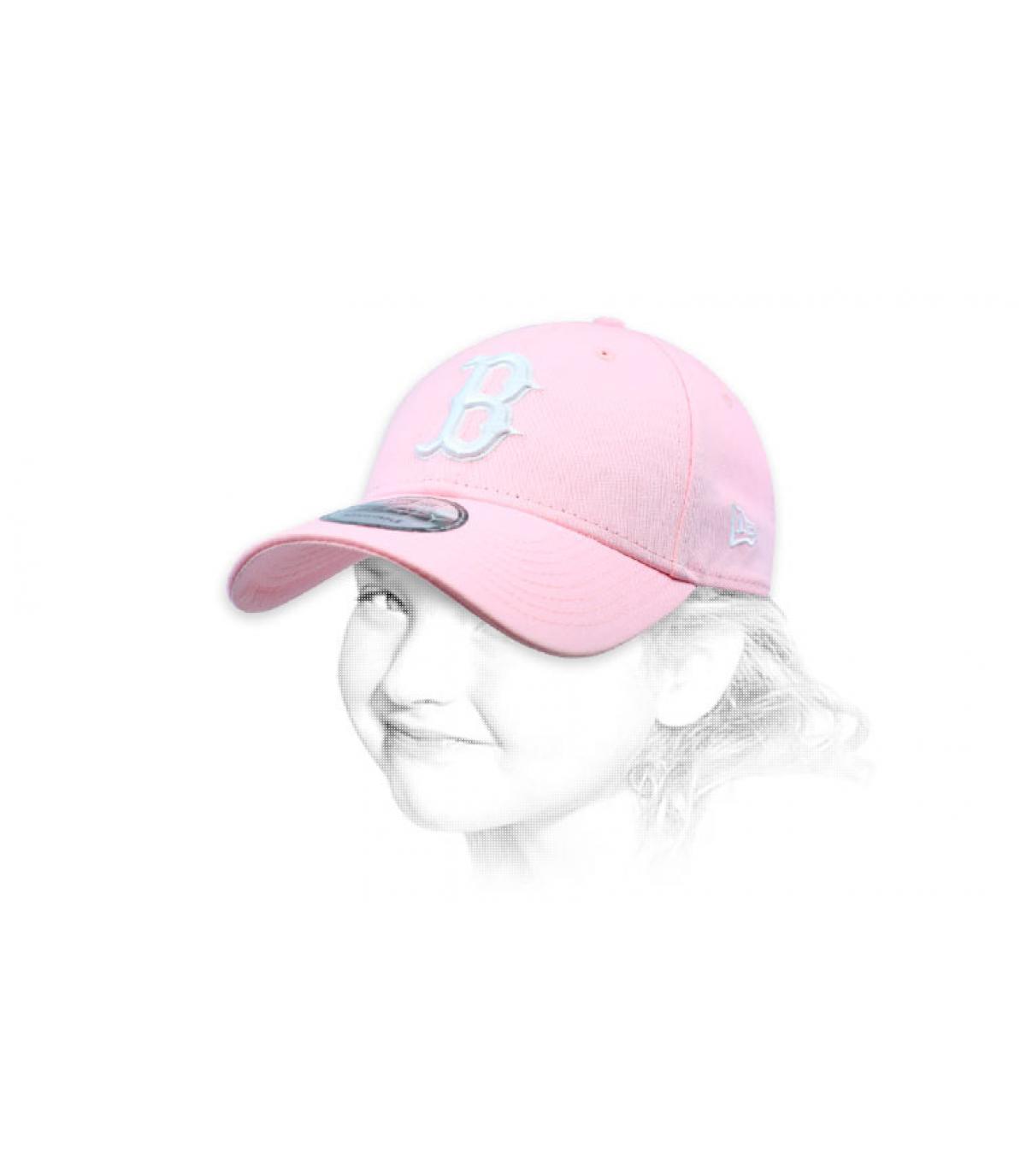 gorra infantil B rosa