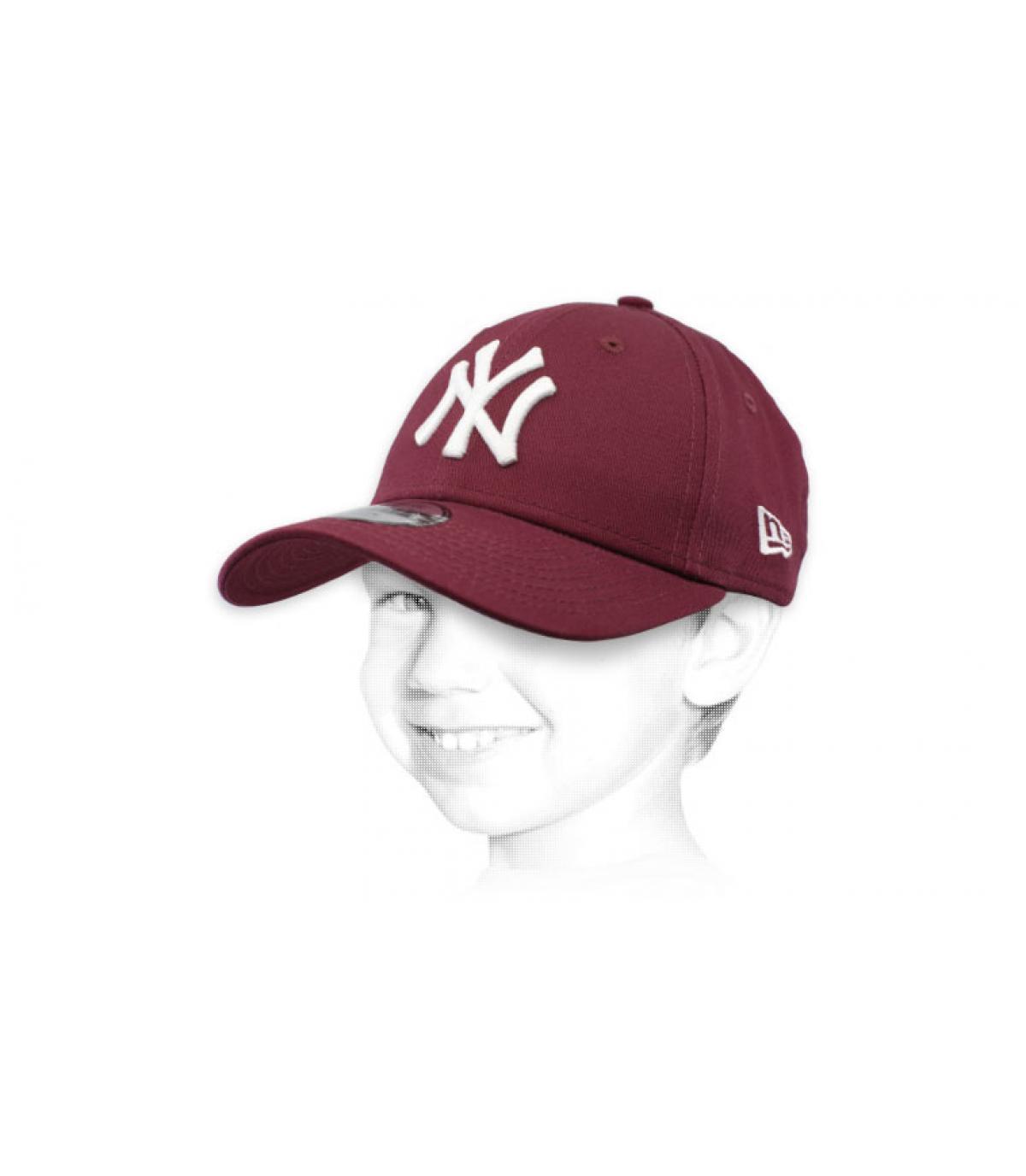 gorra infantil NY morado