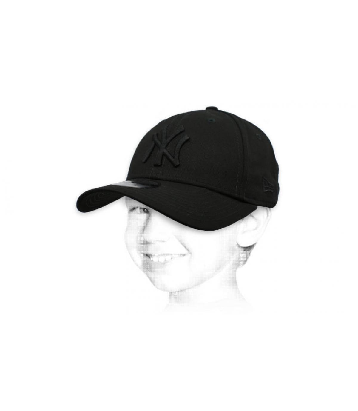 gorra infantil NY negro