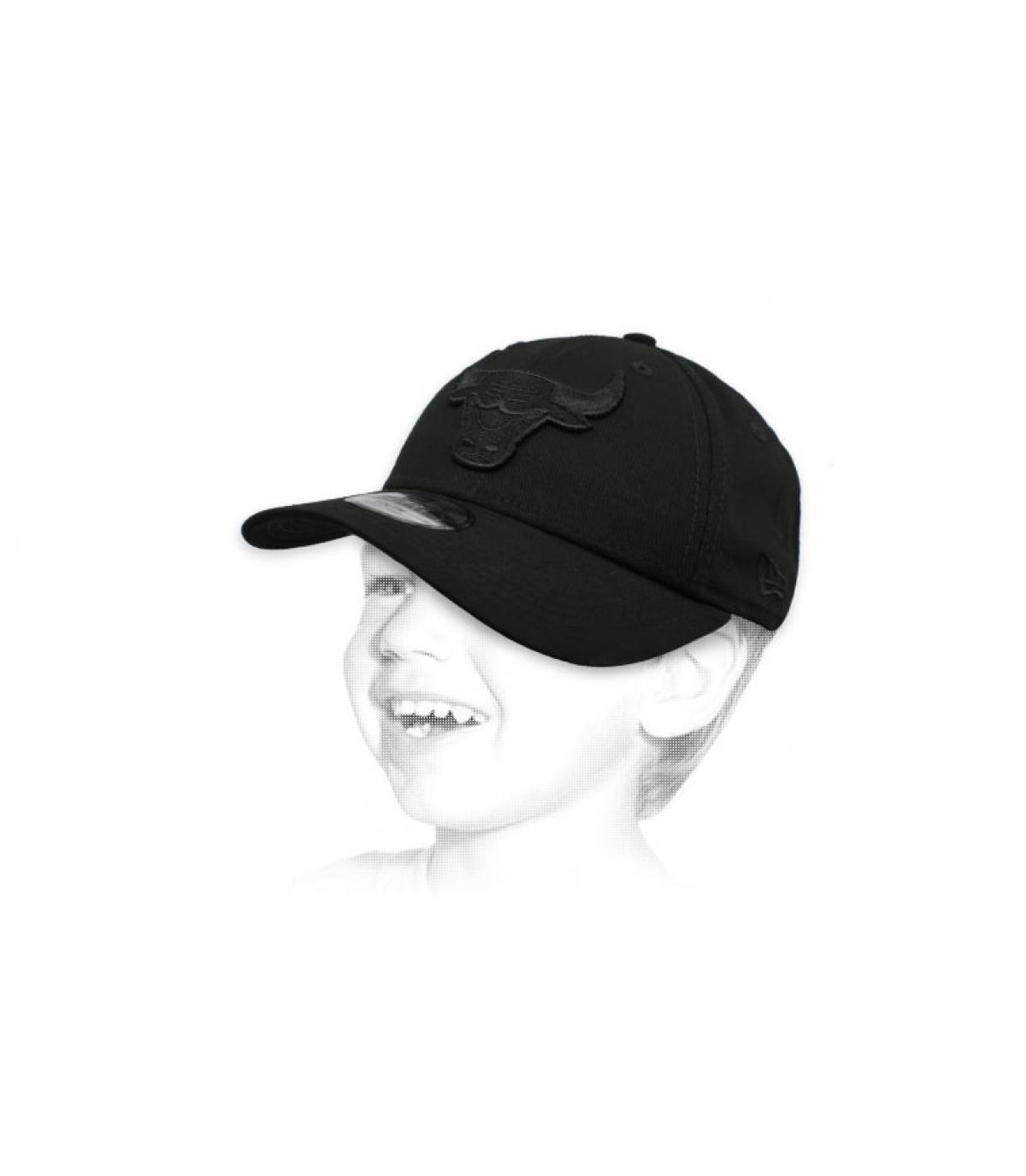 gorra infantil Bulls negro