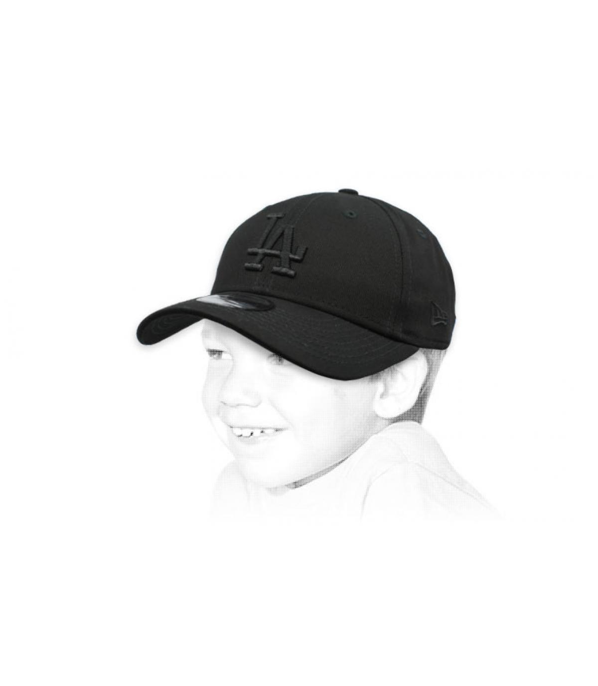 gorra infantil LA negro
