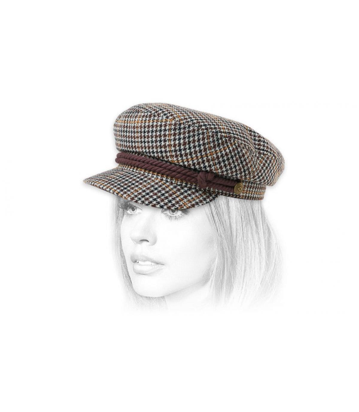 gorra marinera marrón Brixton