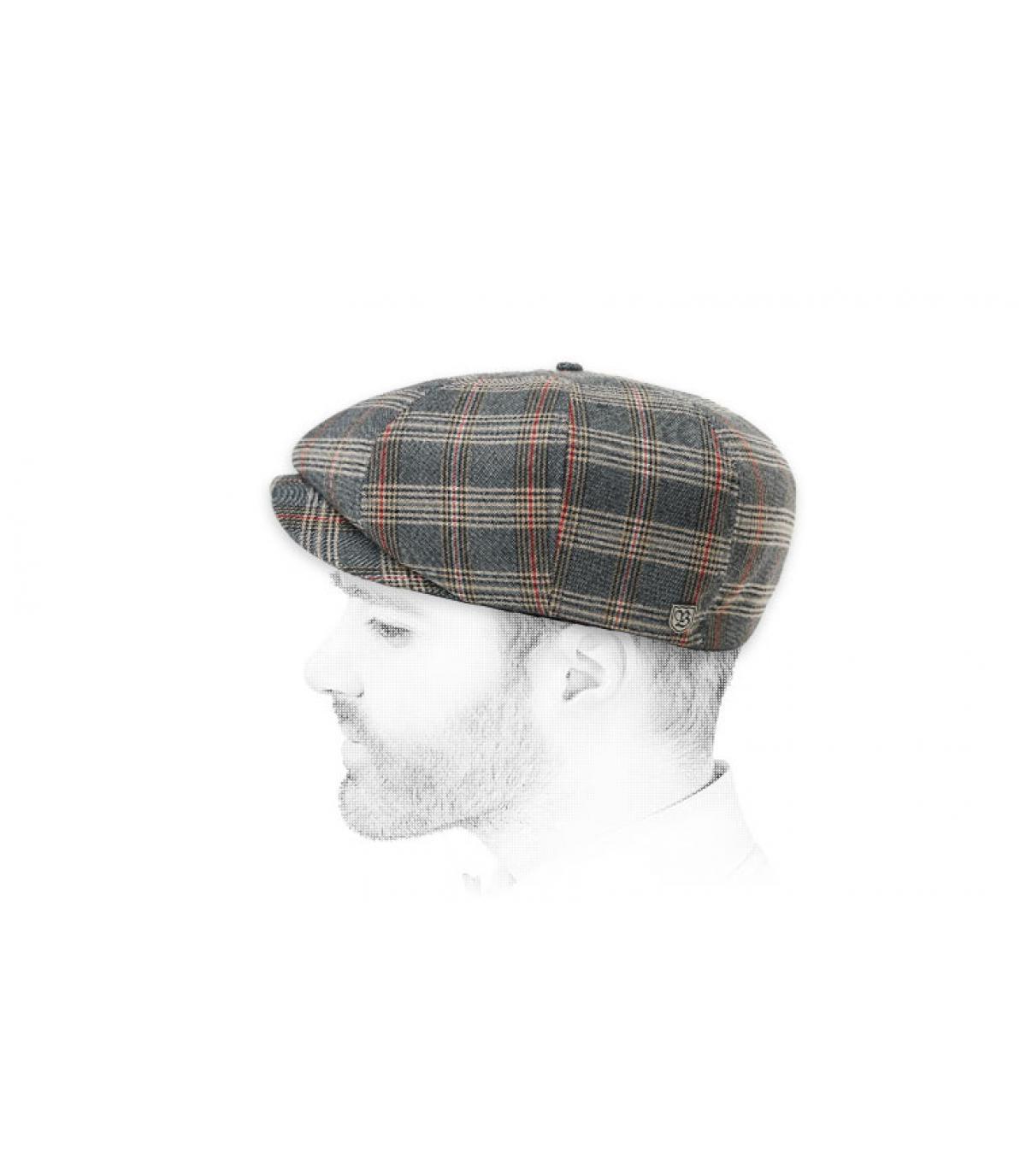 gorra repartidor rayas gris