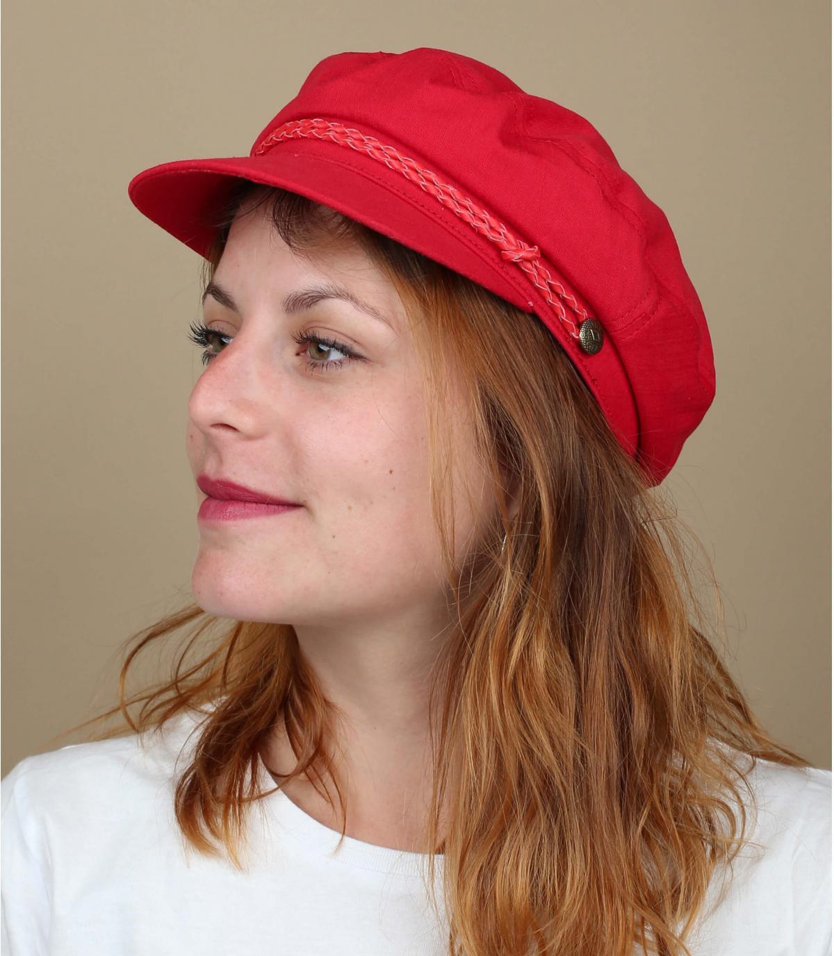 gorra marinera rojo Brixton