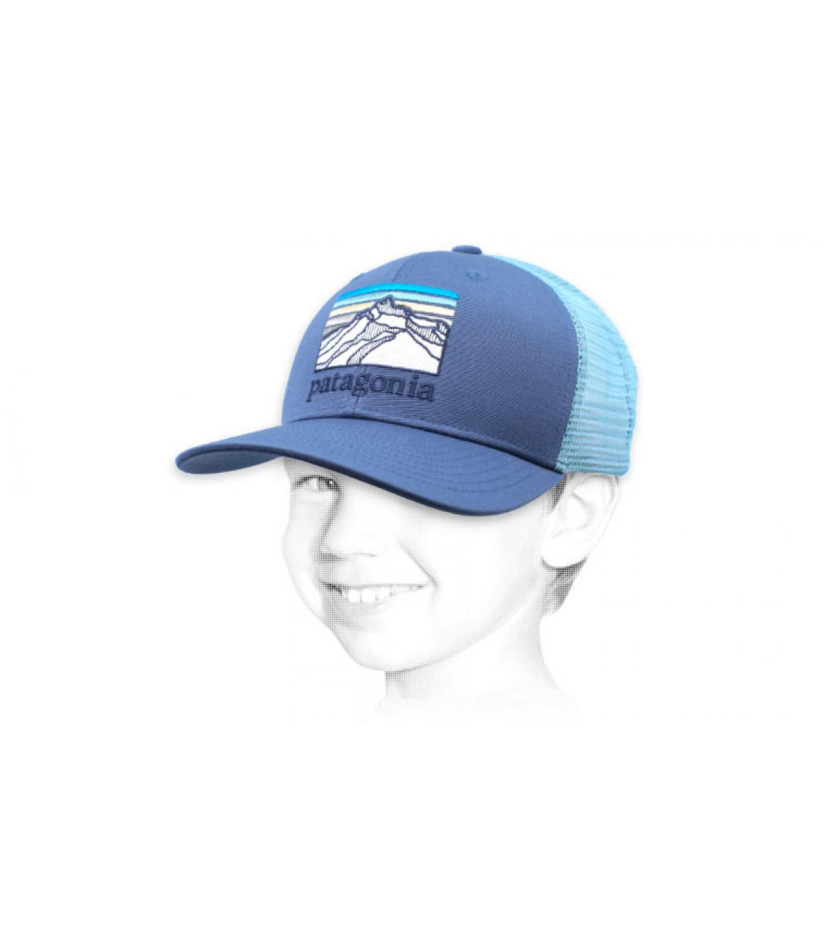trucker niño Patagonia azul