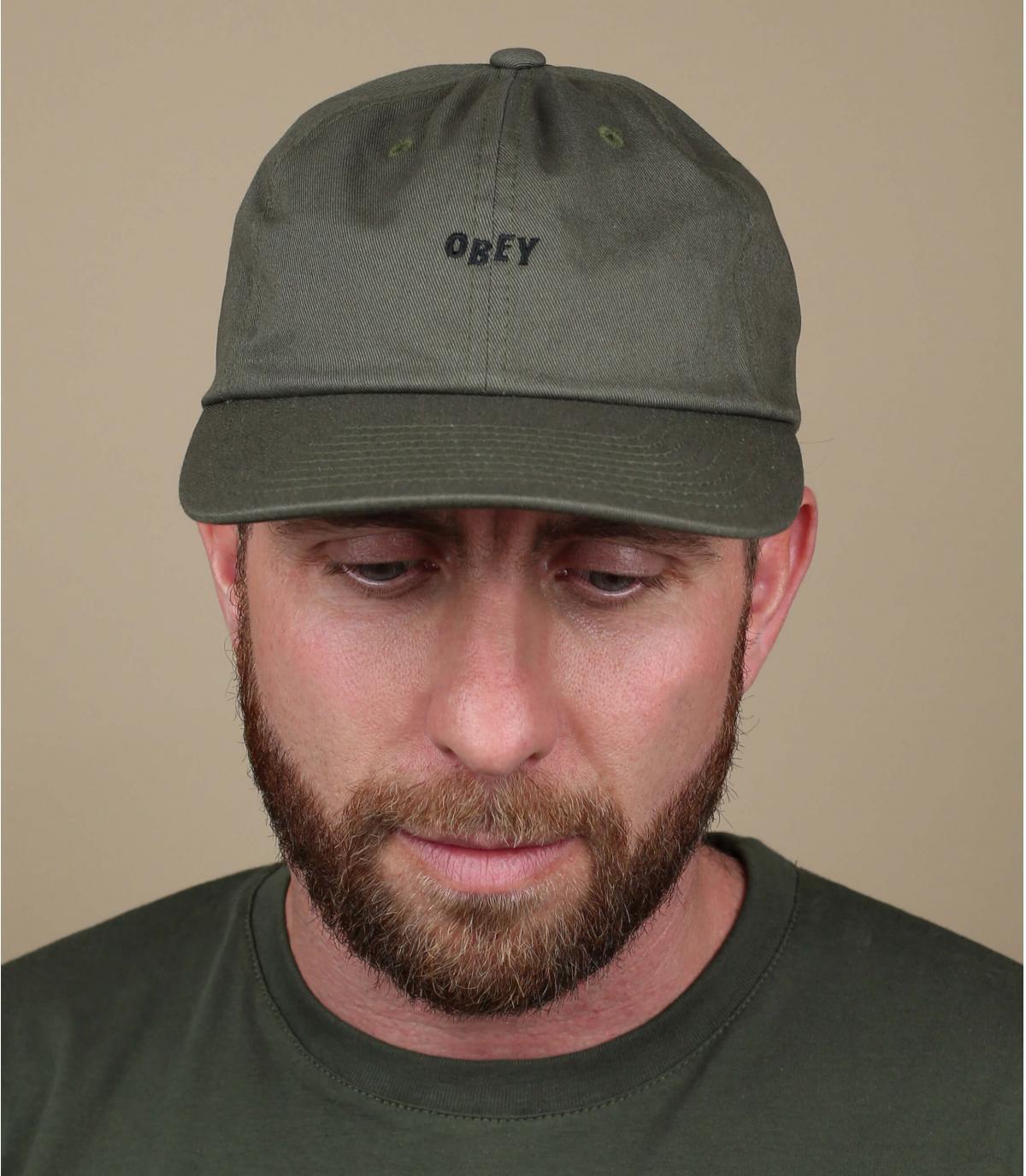 gorra Obey verde
