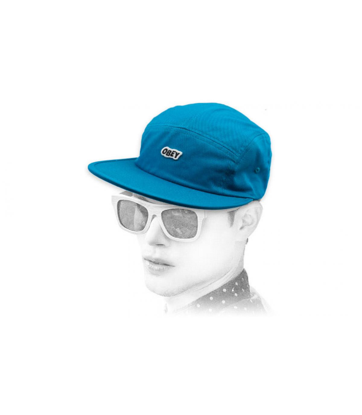 gorra Obey 5 panel azul