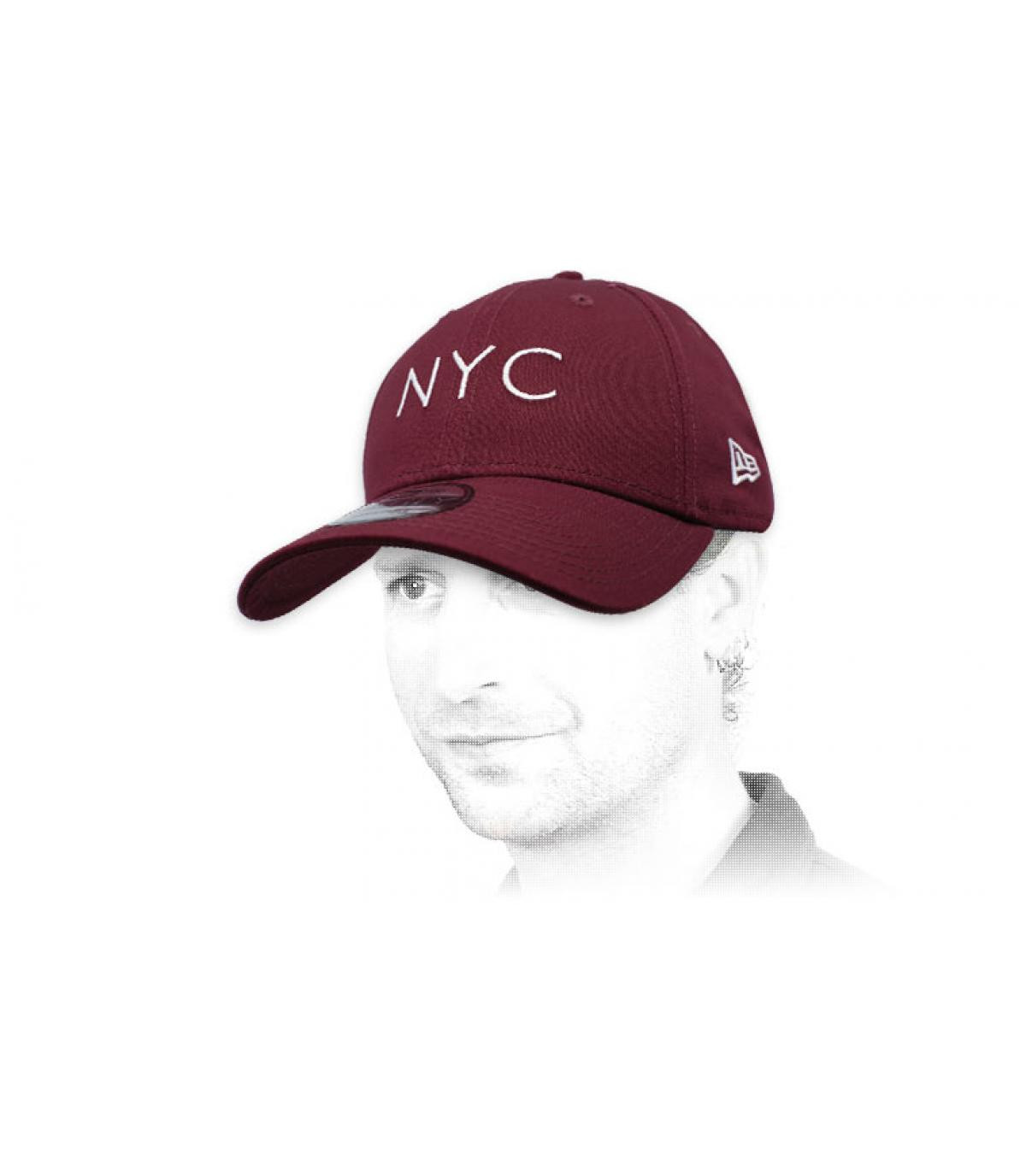 gorra NYC granate