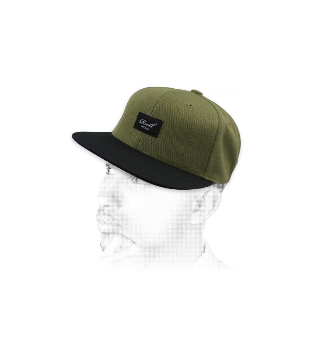 snapback verde negro Reell