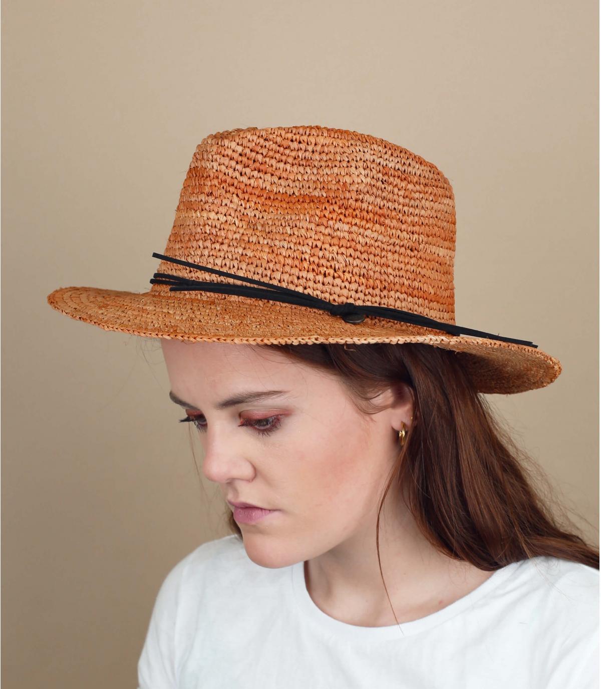 sombrero paja marrón