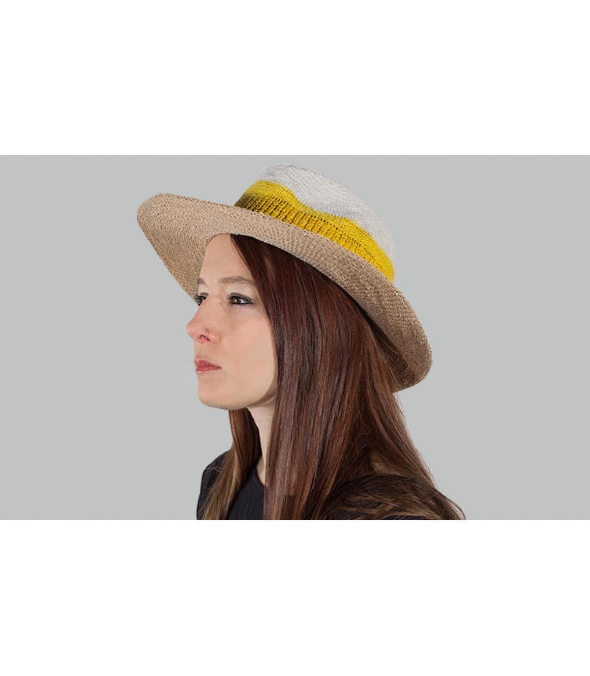 sombrero raya amarillo