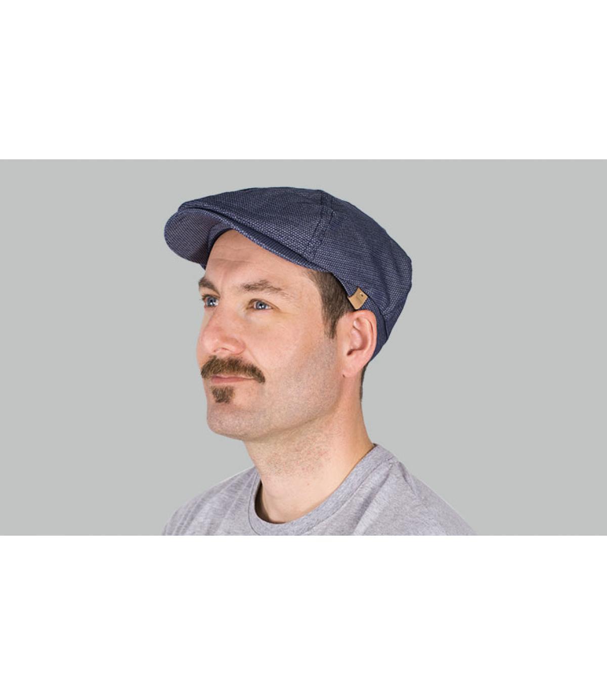 gorra repartidor azul estampado