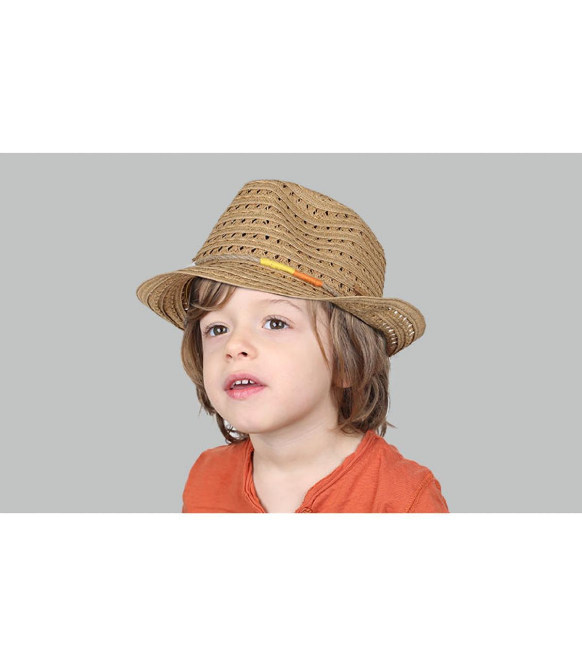 sombrero niño paja