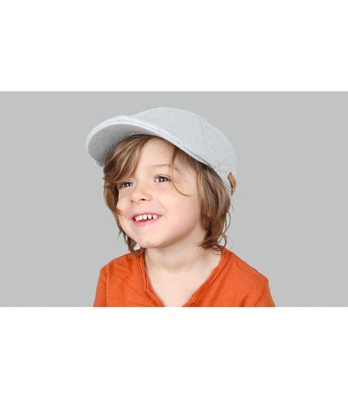 gorra niño gris