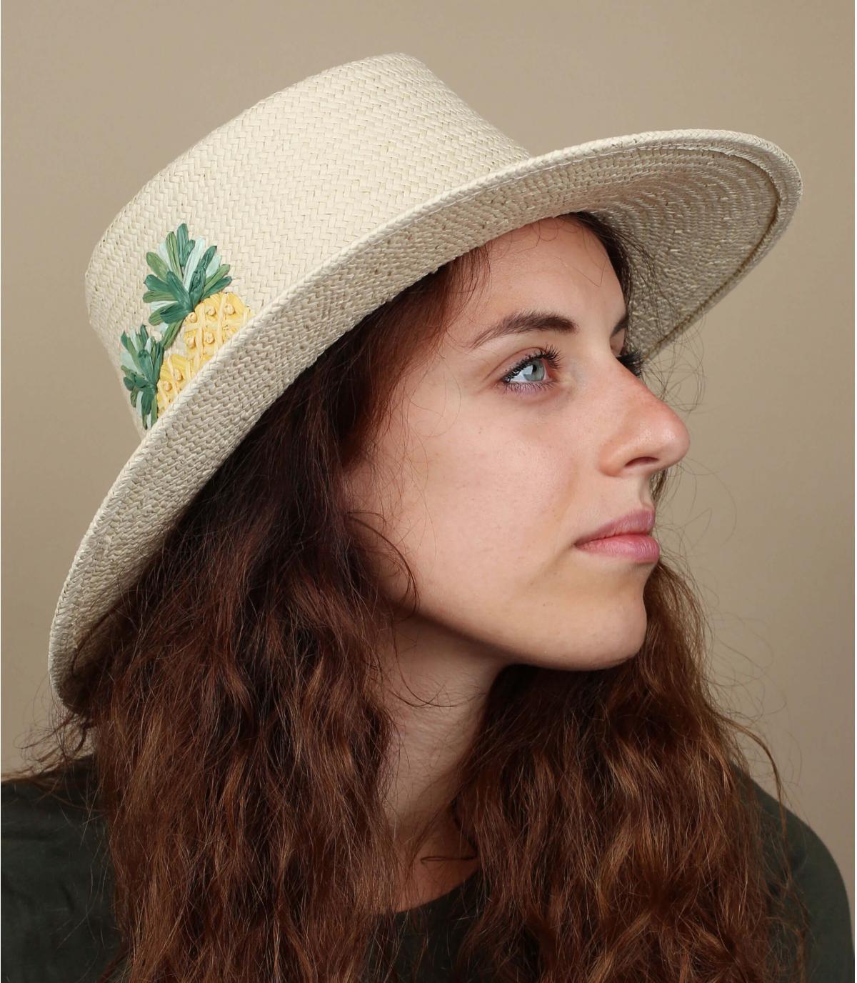 sombrero paja piña