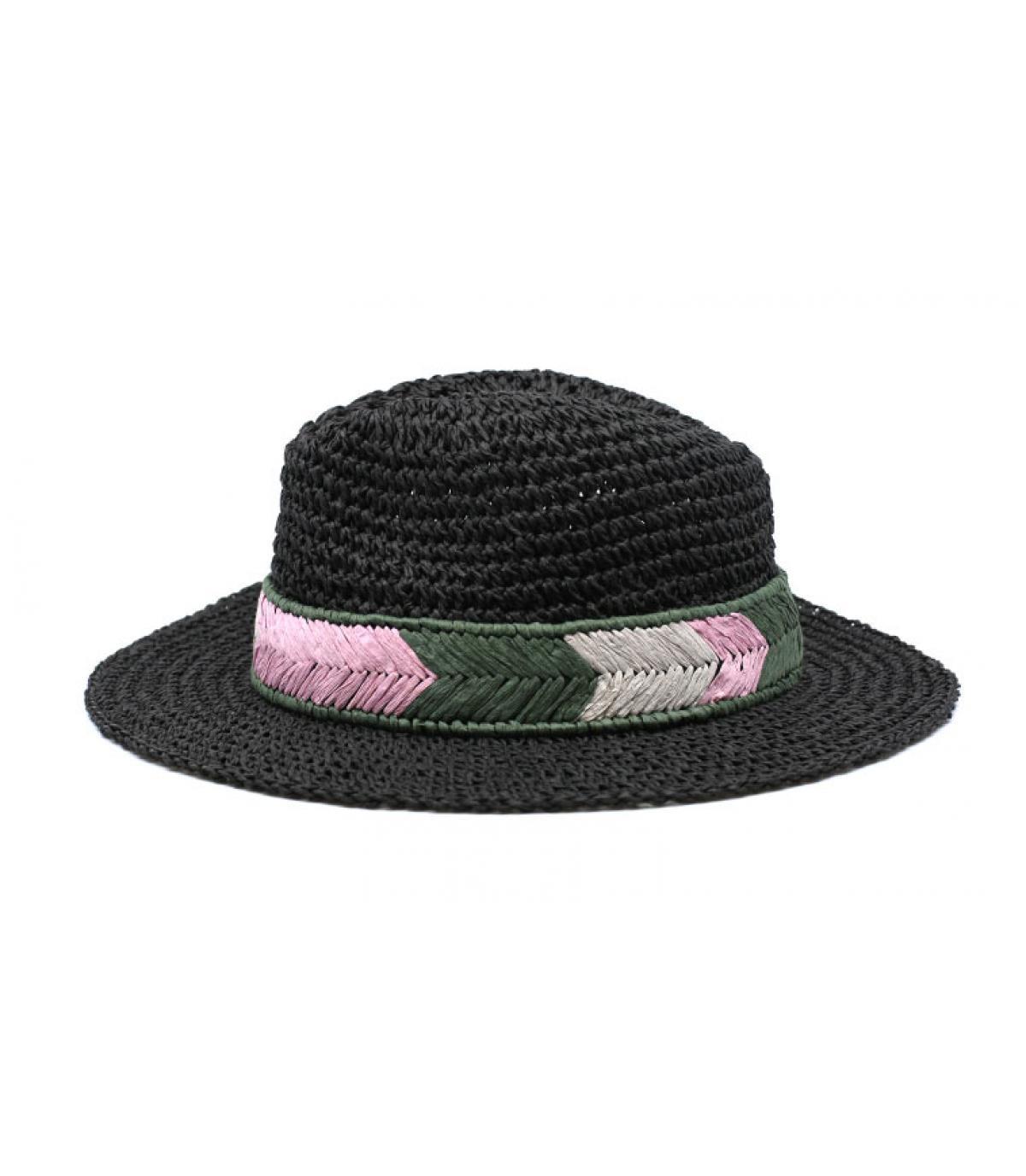 sombrero paja negro