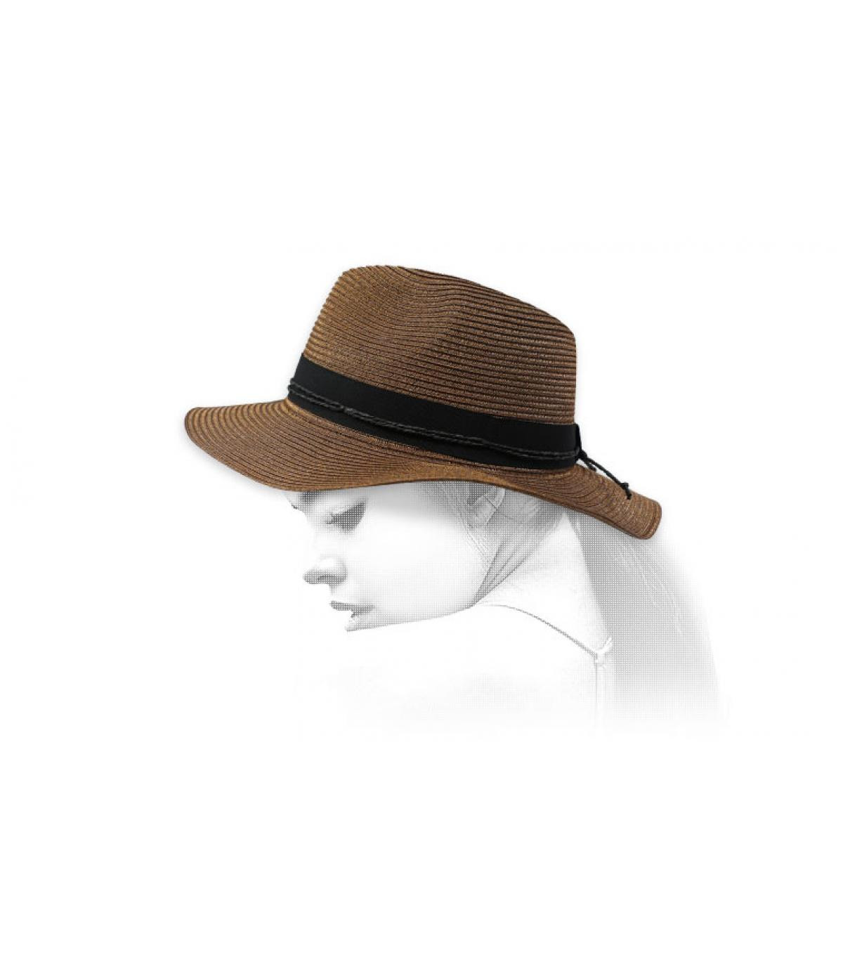 fedora marrón cinta