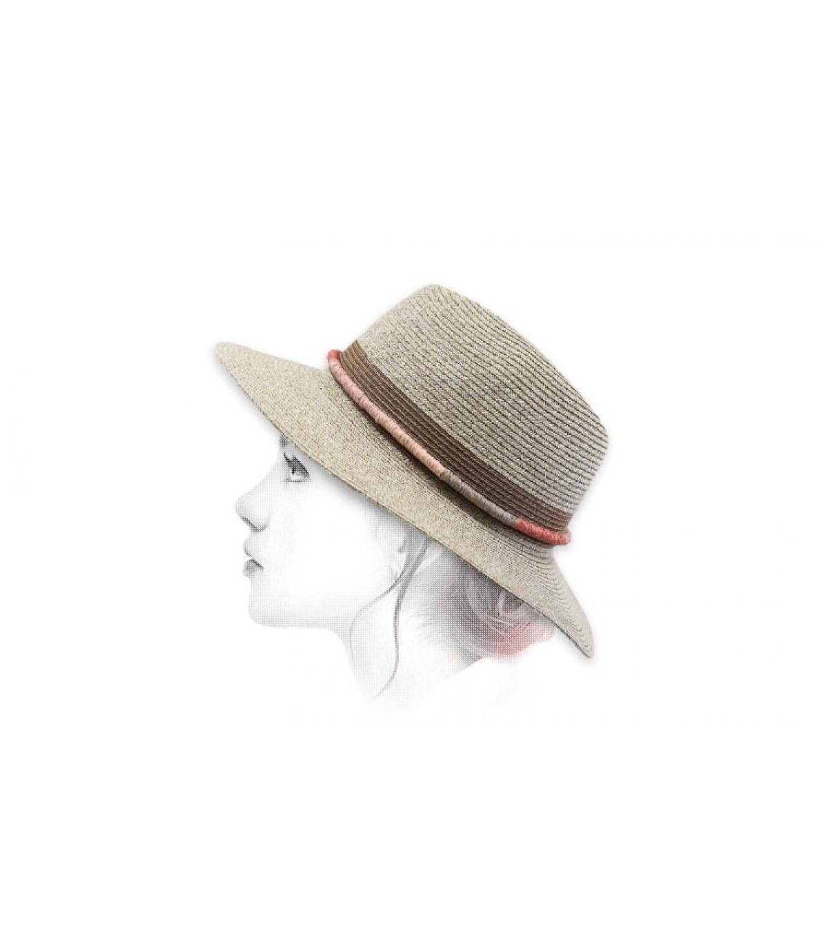 sombrero paja beis