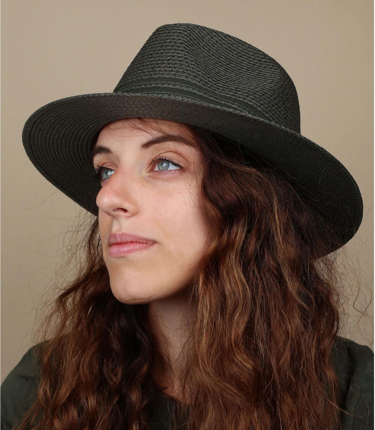 sombrero paja verde