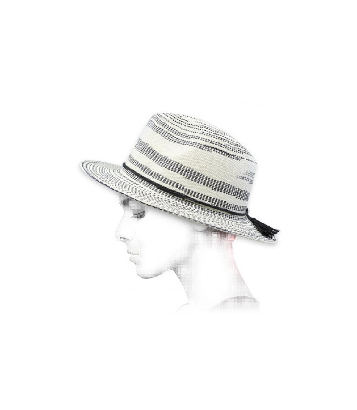sombrero paja rayas