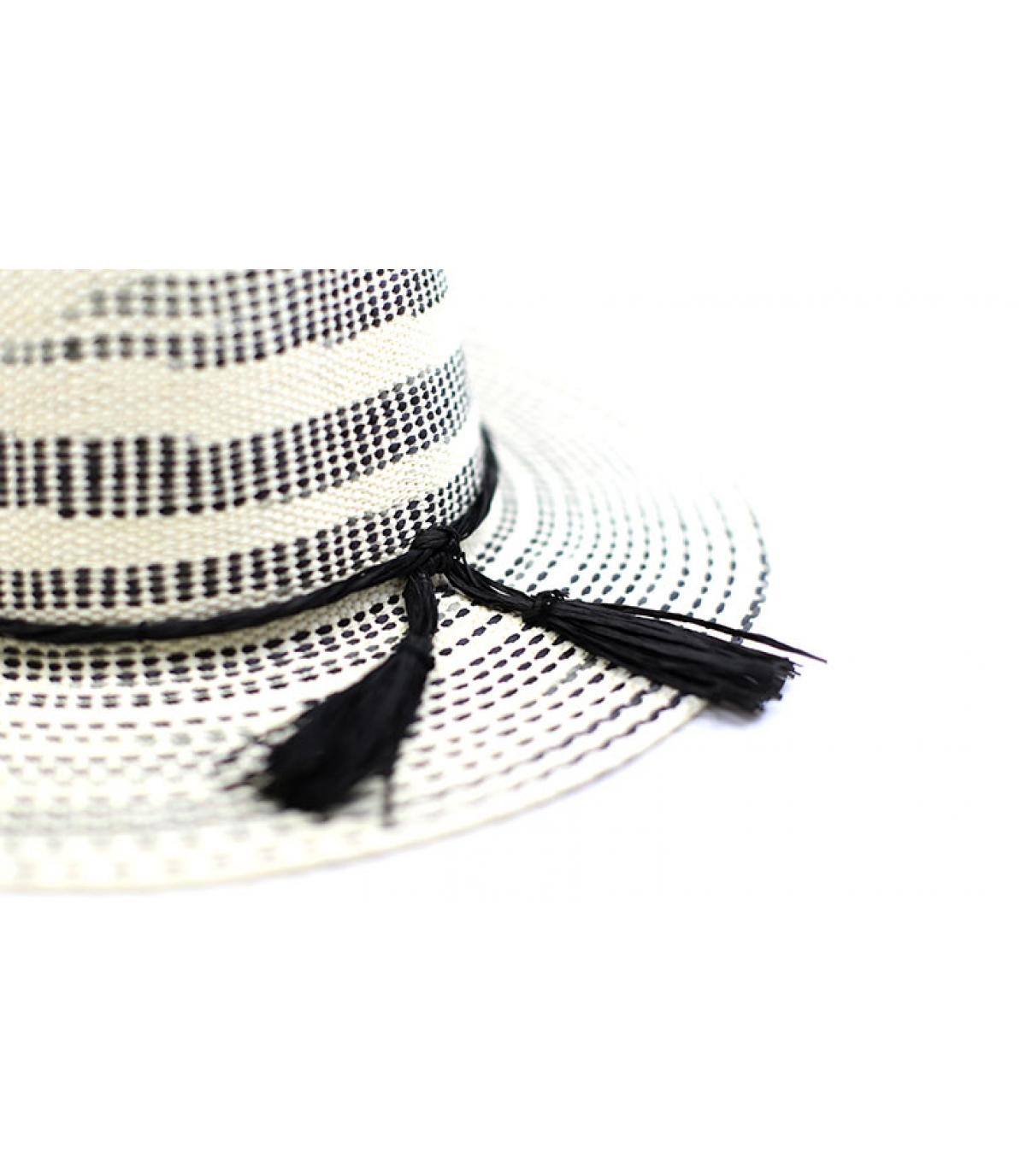 Detalles Fedora Irregular Stripe optic black ivory imagen 3