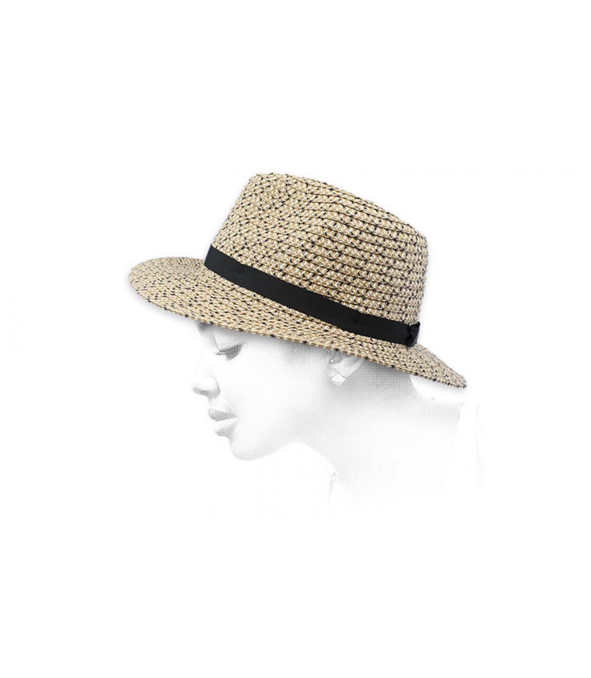 sombrero paja jaspeado