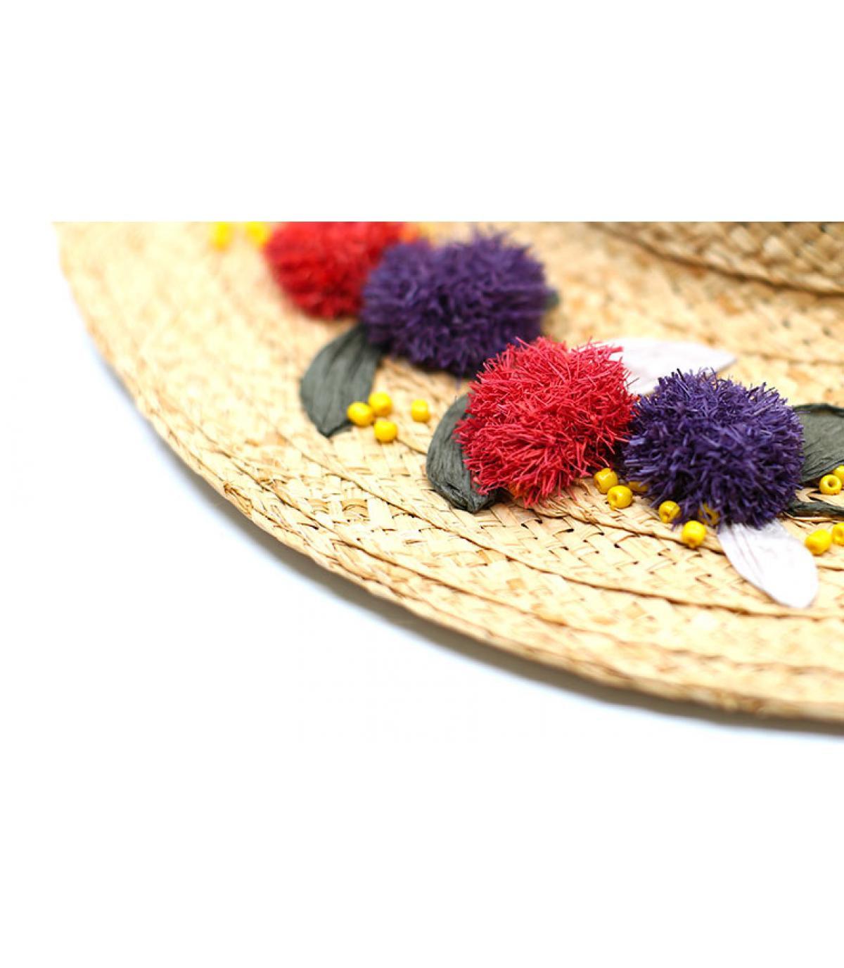 Detalles Floppy Raphia Flower Embroidery imagen 4